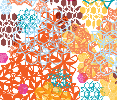 Geometric Bouquet fabric by raylenegorum on Spoonflower - custom fabric