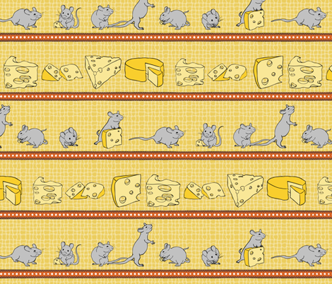 I Like Cheese-Stripe fabric by jmckinniss on Spoonflower - custom fabric