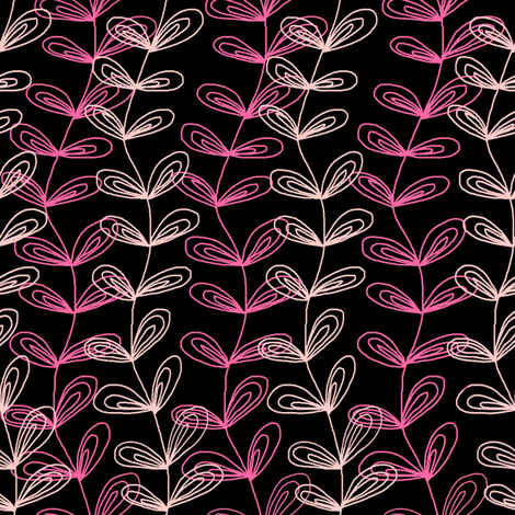Vines in Pink fabric by angelaanderson on Spoonflower - custom fabric