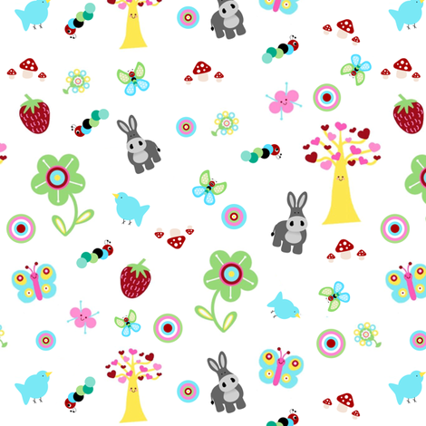 Fruity Forest Ditsy fabric by mayabella on Spoonflower - custom fabric