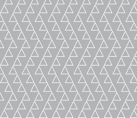 Dancing Triangles - White on grey fabric by newmom on Spoonflower - custom fabric