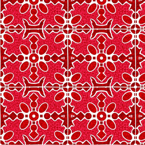 Marble Mosaic Large Tiles in Red