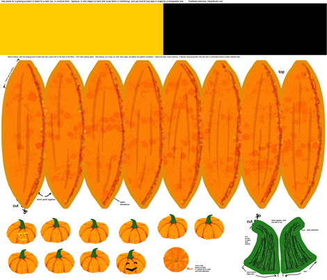 Decorate your pumpkin kit (darker) fabric by haleystudio on Spoonflower - custom fabric