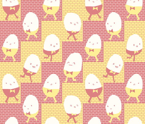 Eggmen fabric by philippa_rice on Spoonflower - custom fabric