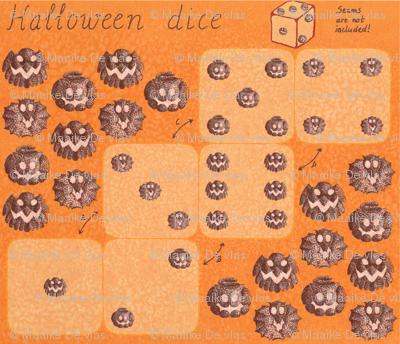 Halloween dice