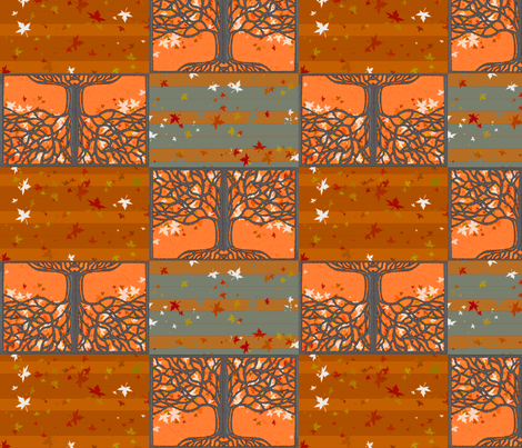 Fall_Tree_Pattern fabric by smart_cats on Spoonflower - custom fabric