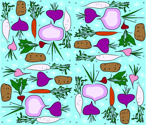 rootveggies fabric by shelleygerber on Spoonflower - custom fabric