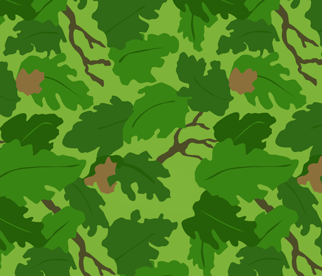 US Mitchell Camo Korea / Vietnam Era fabric by ricraynor on Spoonflower - custom fabric