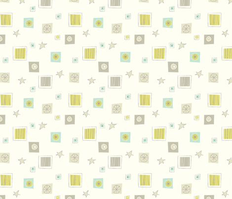 Star struck ditsy fabric by amel24 on Spoonflower - custom fabric