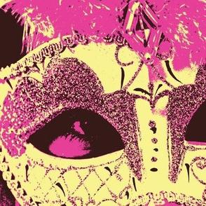 Venetian Mask Pink Cream