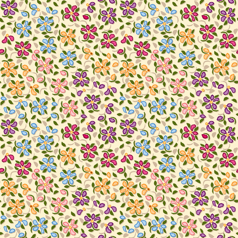 Flood_of_Flowers_(zoom please)_offset_shadow_multi 4_f_2__A4_ fabric by khowardquilts on Spoonflower - custom fabric