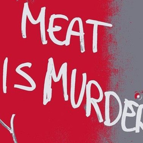 meat is murder graffiti