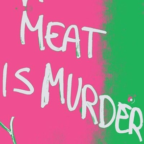 meat is murder preppy graffiti