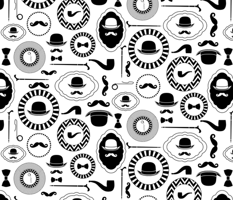 Gentelmen_repeat_adj fabric by newmom on Spoonflower - custom fabric