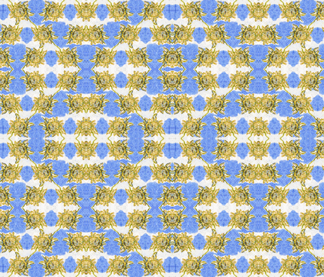 Golden flower by Alexandra Cook fabric by linandara on Spoonflower - custom fabric