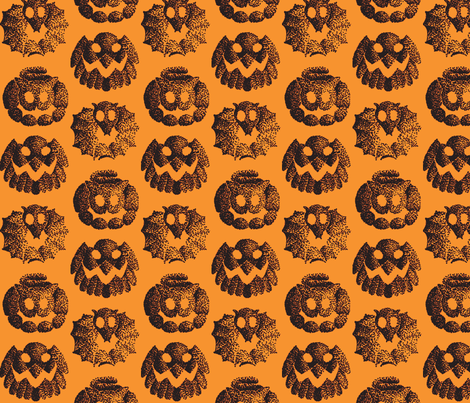 Halloween animals fabric by zandloopster on Spoonflower - custom fabric
