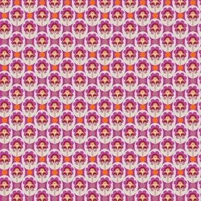 retro flower purple