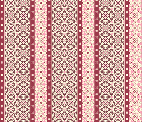Wild Berry Border fabric by inscribed_here on Spoonflower - custom fabric