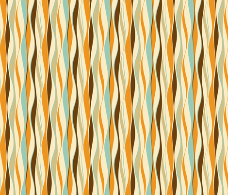wavy lines retro-ed fabric by goolala on Spoonflower - custom fabric