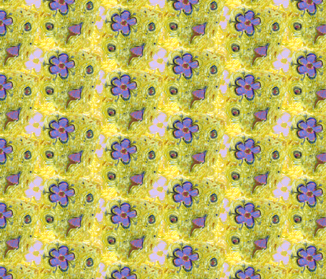 Pastel Forget-Me-Not by Alexandra Cook fabric by linandara on Spoonflower - custom fabric