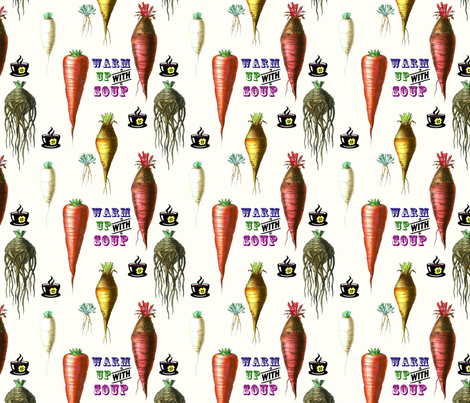 A Soupcon of Roots fabric by glanoramay on Spoonflower - custom fabric