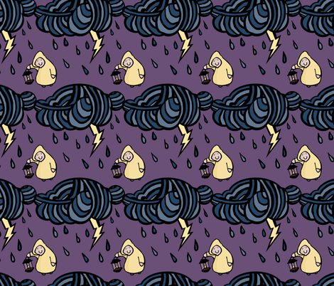 Thunderstorm fabric by pond_ripple on Spoonflower - custom fabric