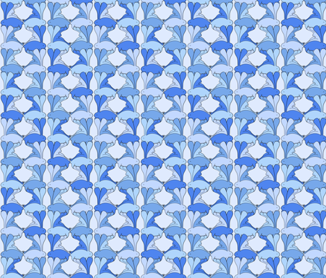 Aplin Bunnies - Bluebell fabric by beth_snow on Spoonflower - custom fabric