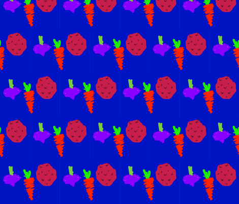 ROOT_VEGIES fabric by artitbymandra on Spoonflower - custom fabric