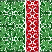 Marble Mosaic Holiday Stripes