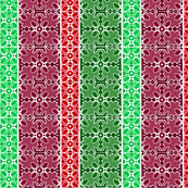 Marble Mosaic Multi Stripes in Reds and Greens