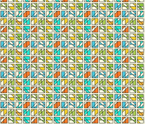 Box Mosaic 1 fabric by zigzagza on Spoonflower - custom fabric