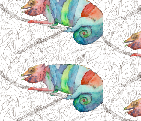 Chameleon Fail fabric by aftermyart on Spoonflower - custom fabric
