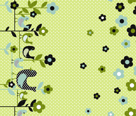 "tweety tweet border 42"" wide fabric by collectivesurfacellc on Spoonflower - custom fabric"