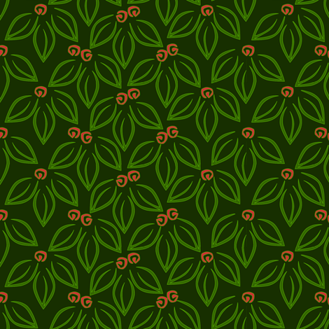 leavesnberries-holiday fabric by glimmericks on Spoonflower - custom fabric