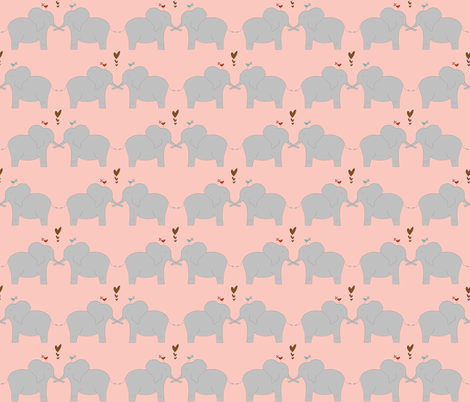 Elephants in Love fabric by meg56003 on Spoonflower - custom fabric