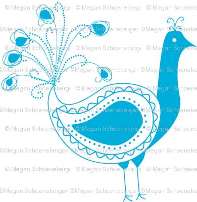 Peacock- Blue
