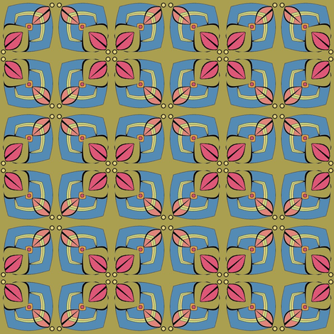 Four Leaves (Red) fabric by david_kent_collections on Spoonflower - custom fabric