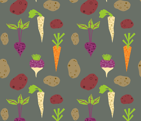 Root-toot-toot  fabric by lauredesigns on Spoonflower - custom fabric