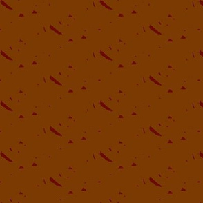Autumn Leaf Abstract Stripe coordinate -- russet colorway
