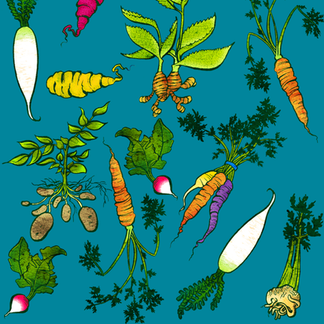 Roots fabric by jadegordon on Spoonflower - custom fabric