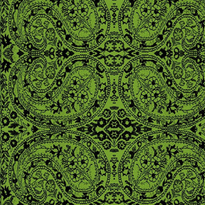 paisley black-green