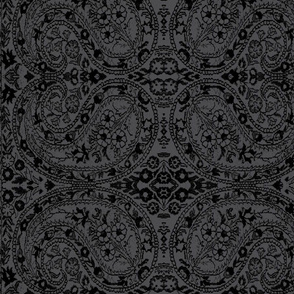 paisley black-grey