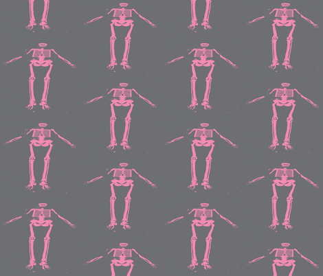 Assume the Position - Pink fabric by susaninparis on Spoonflower - custom fabric