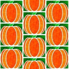 Marble Mosaic Pumpkin Tiles in Green
