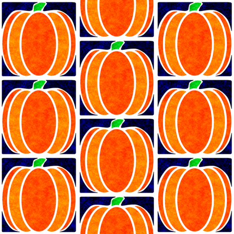 Marble Mosaic Pumpkin Tiles in Blue fabric by squishylicious on Spoonflower - custom fabric