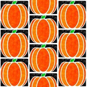 Marble Mosaic Pumpkin Tiles in Black