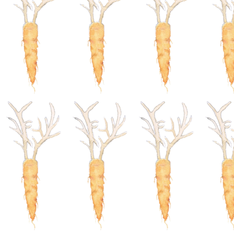 antler carrots fabric by eveneve on Spoonflower - custom fabric