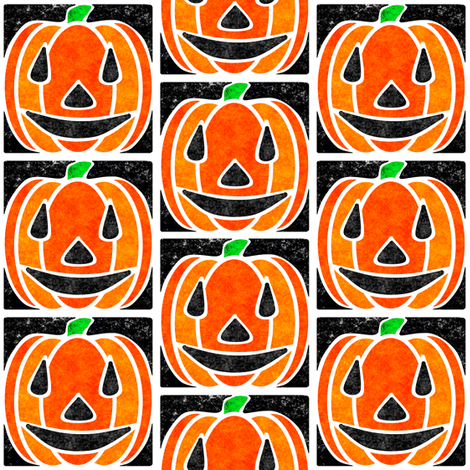 Marble Mosaic Jack O Lantern Tiles fabric by squishylicious on Spoonflower - custom fabric