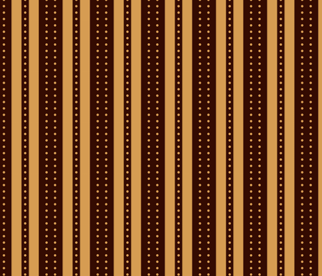 Stripes and Dots - Caramel Cacao fabric by glimmericks on Spoonflower - custom fabric