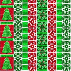 Marble Mosaic Christmas Stripe